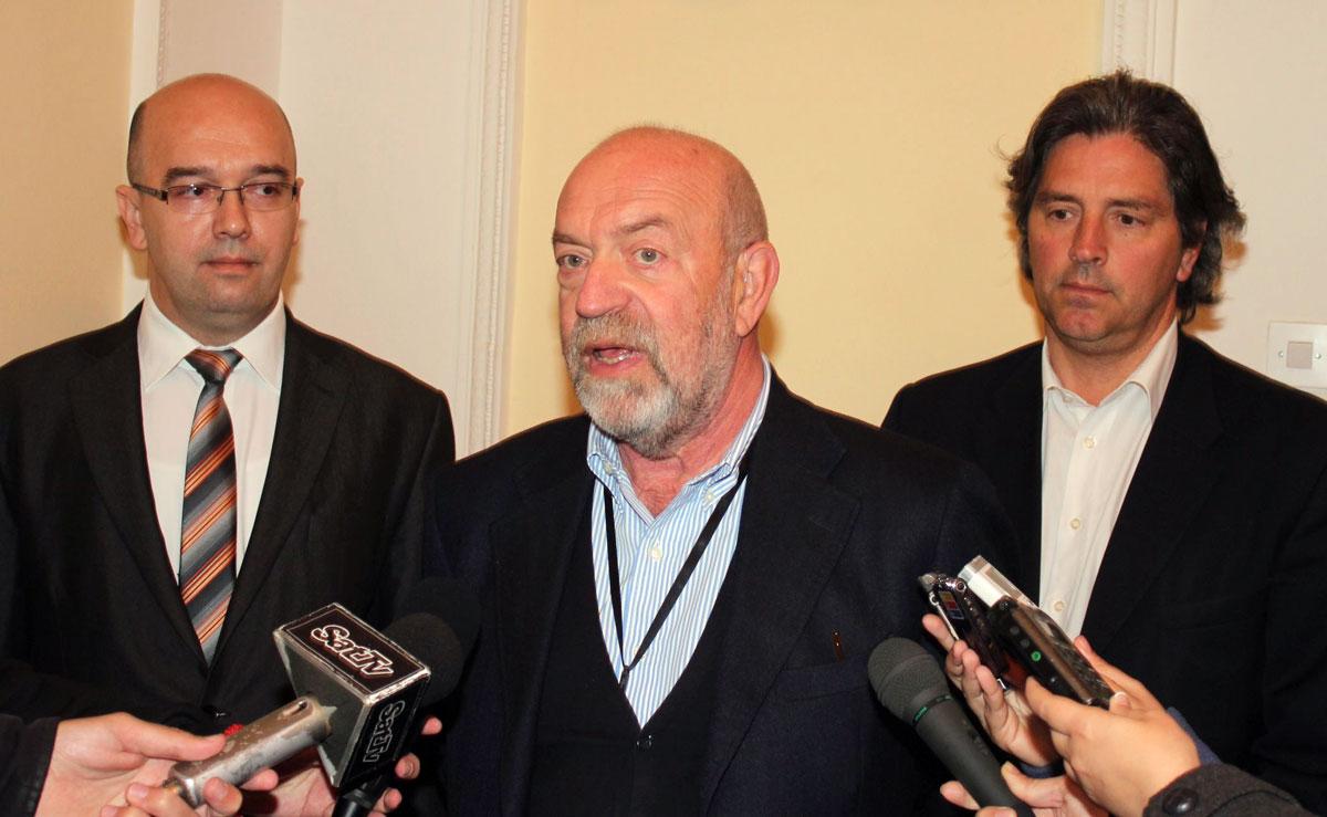 Домаћин Бане Спасовић са партнерима из Италије