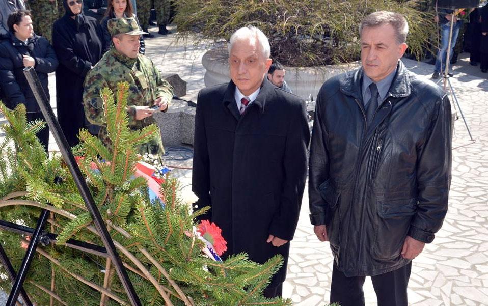 """Polaganje venaca na spomenik """"Sloboda"""""""