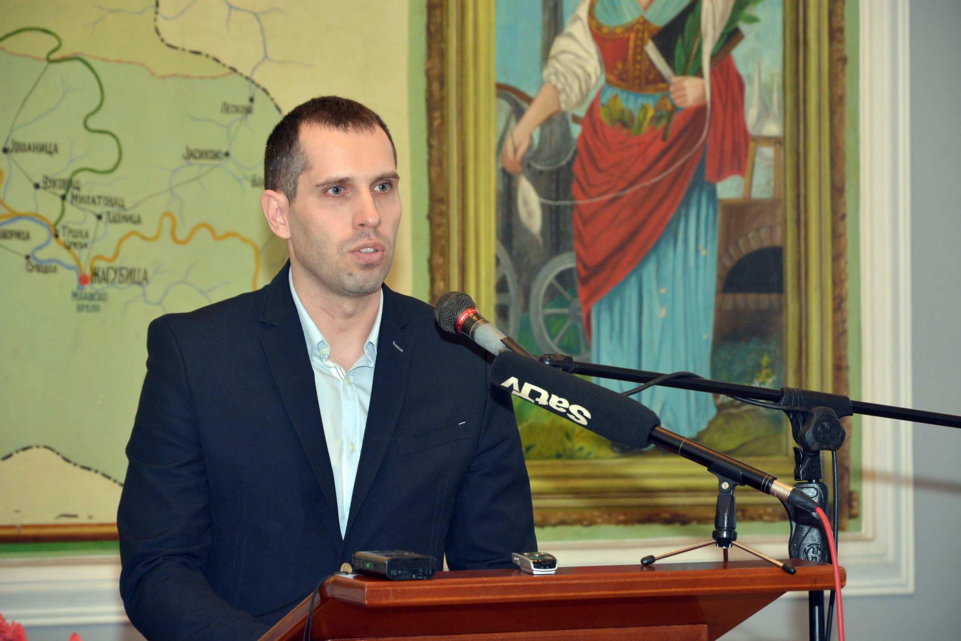 Саша Радић, председник Удружења Словенаца