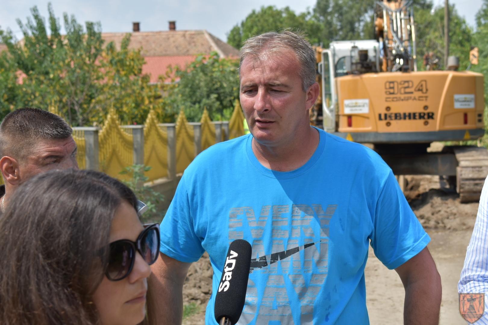 Gradonačelnik Grada Požarevca Bane Spasović obišao radove u Lučici 21694